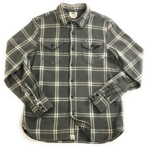 Vans Mens Plaid Long Sleeve Flannel Shirt, Small